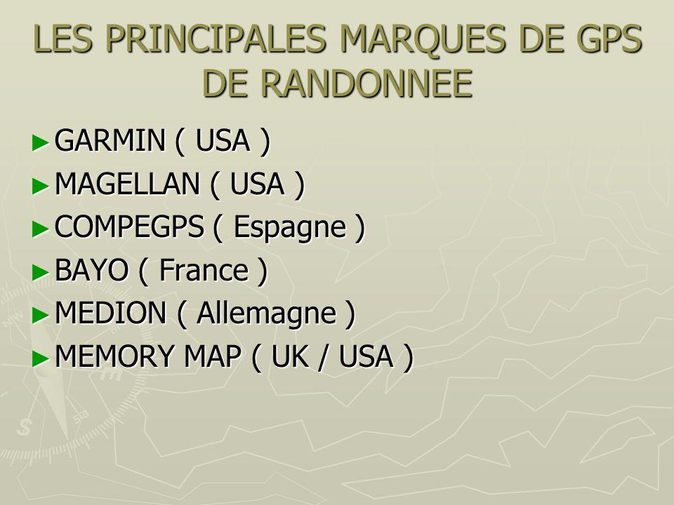 LES PRINCIPALES MARQUES DE GPS DE RANDONNEE