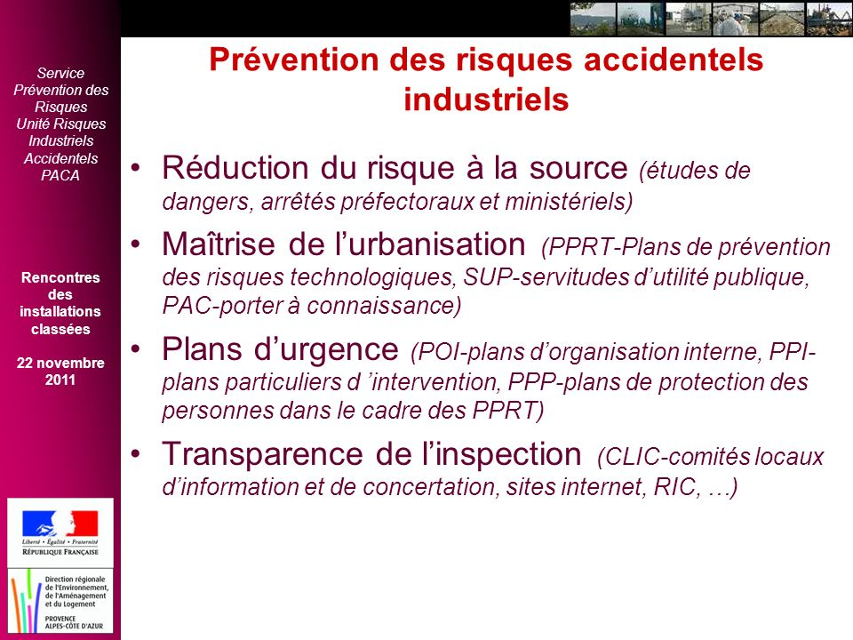 Prévention des risques accidentels industriels