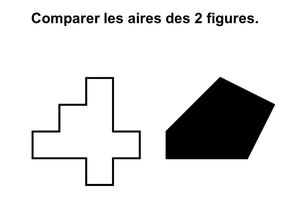 Comparer les aires des 2 figures.