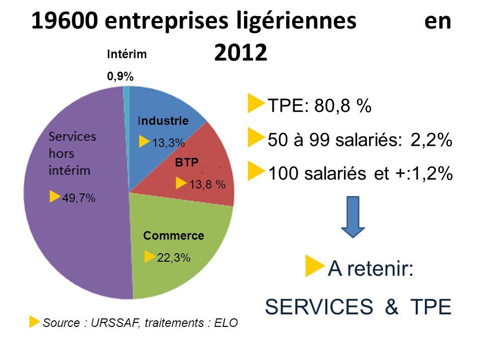 19600 entreprises ligériennes en 2012