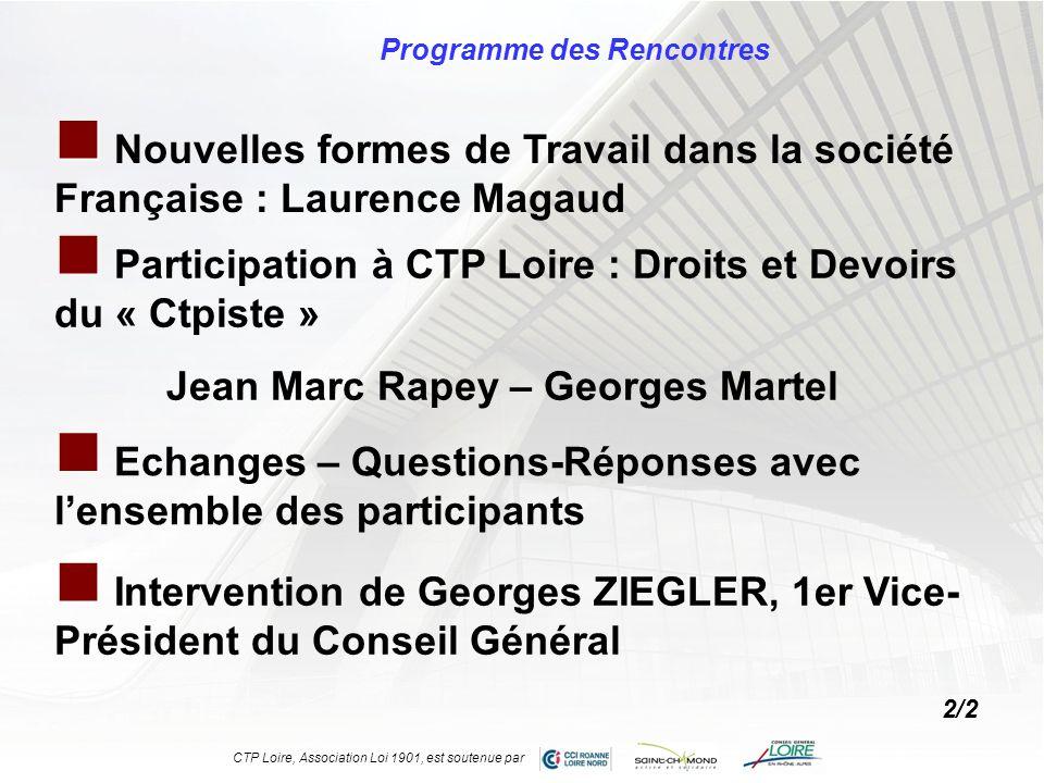 Programme des Rencontres