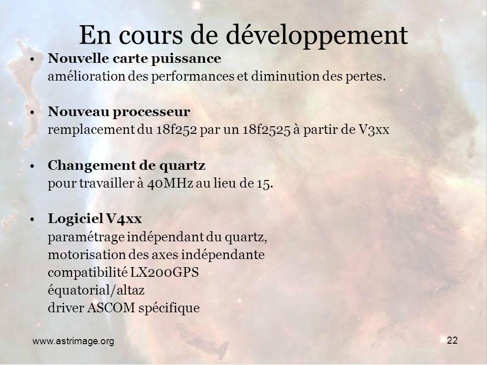 En Cours de développement