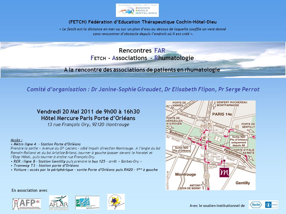 Rencontres FAR FETCH - Associations - Rhumatologie