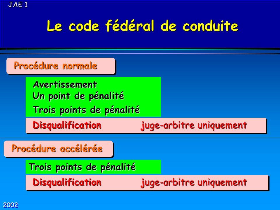 Le code fédéral de conduite