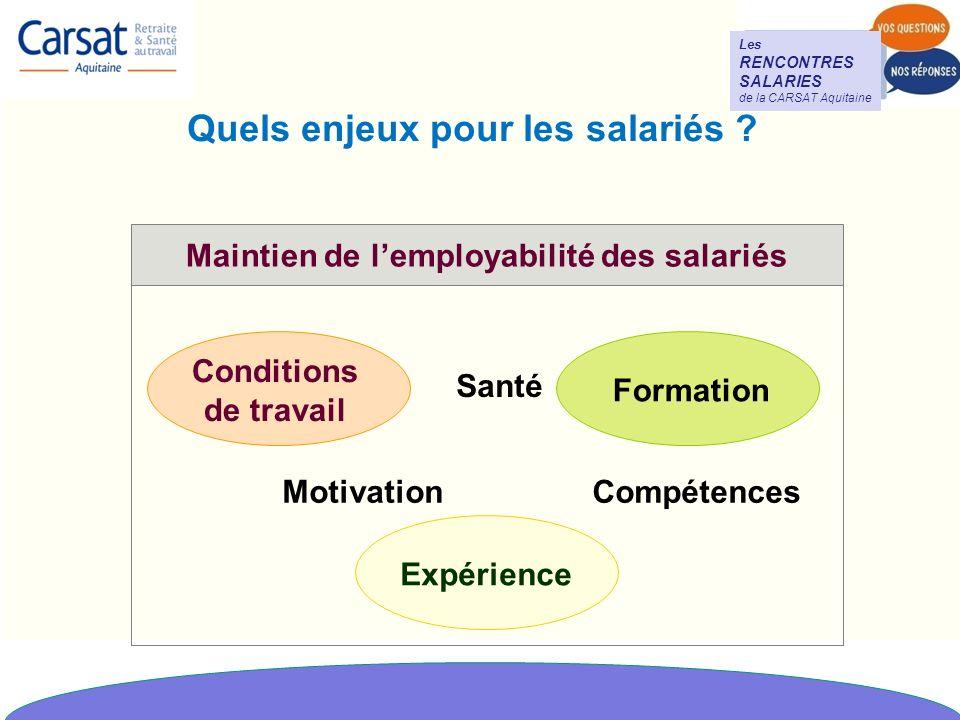 Quels enjeux pour les salariés