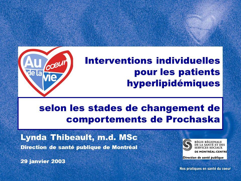 Interventions individuelles pour les patients hyperlipidémiques