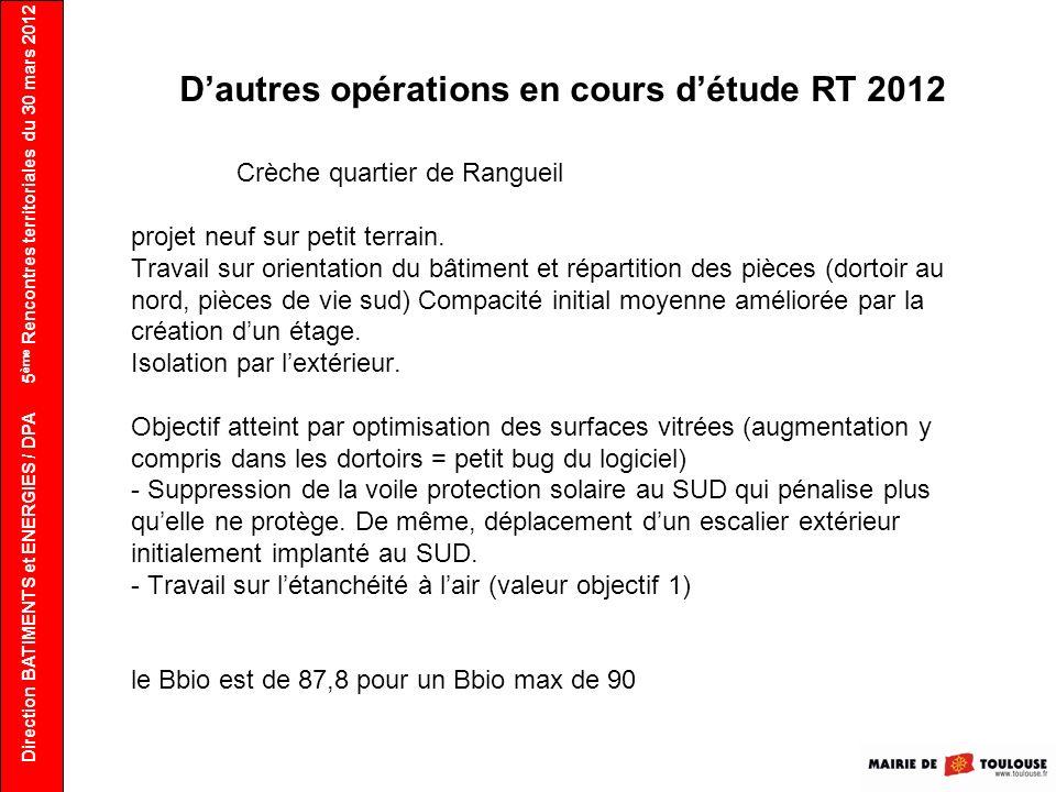 D'autres opérations en cours d'étude RT 2012