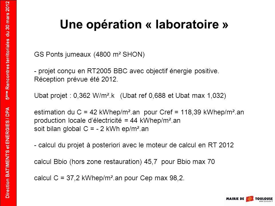 Une opération « laboratoire »
