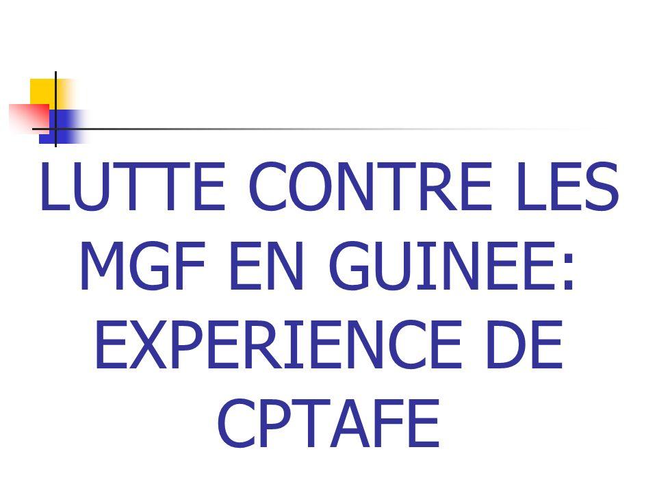 LUTTE CONTRE LES MGF EN GUINEE: EXPERIENCE DE CPTAFE