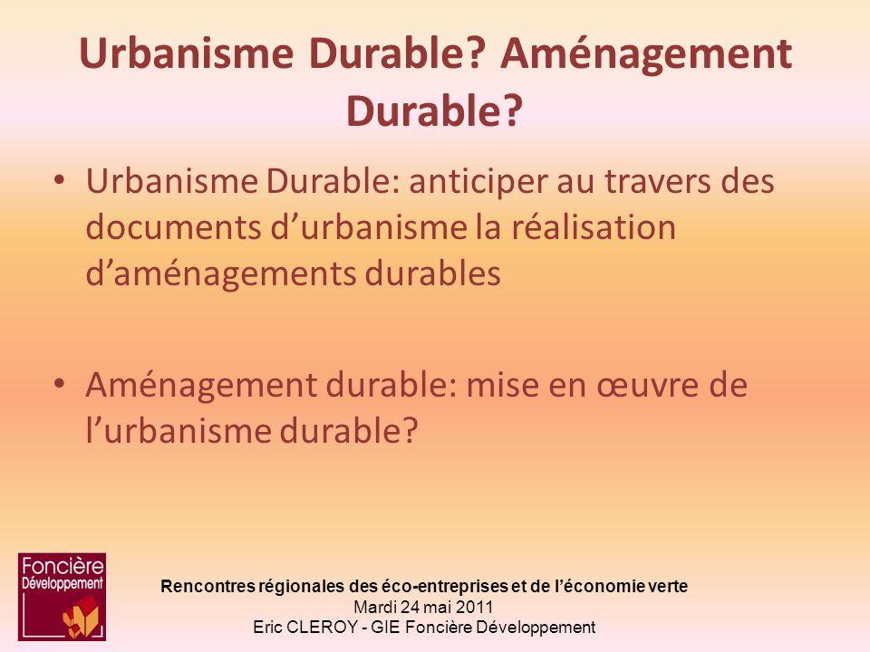 Urbanisme Durable Aménagement Durable