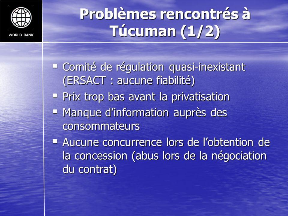 Problèmes rencontrés à Túcuman (1/2)