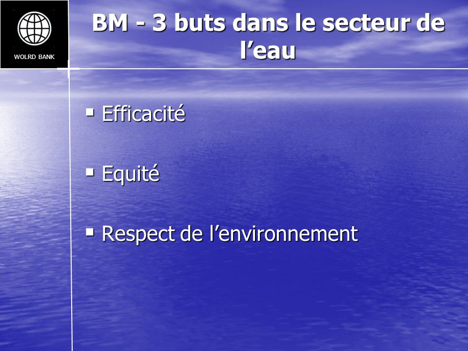 BM - 3 buts dans le secteur de l'eau
