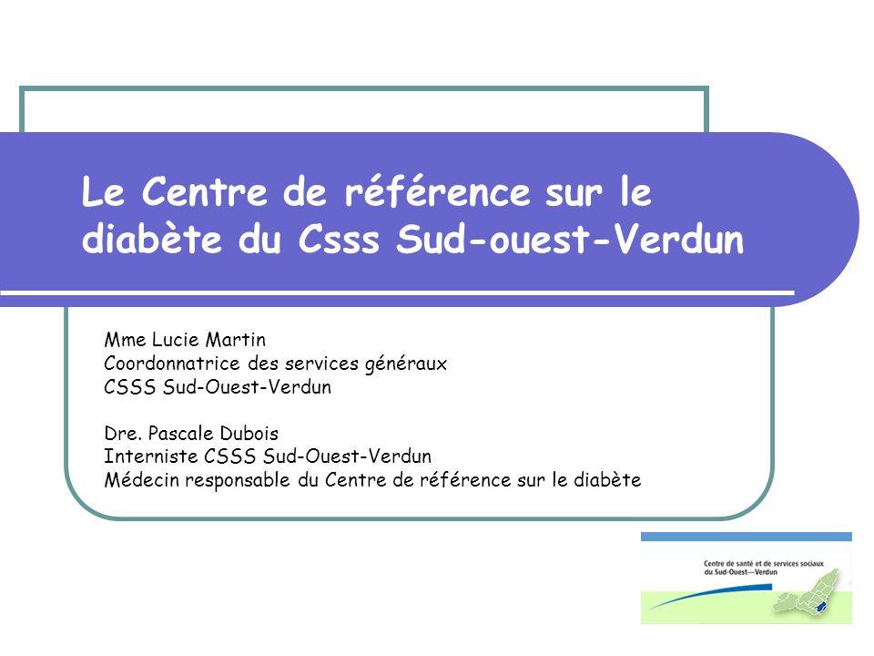 Le Centre de référence sur le diabète du Csss Sud-ouest-Verdun