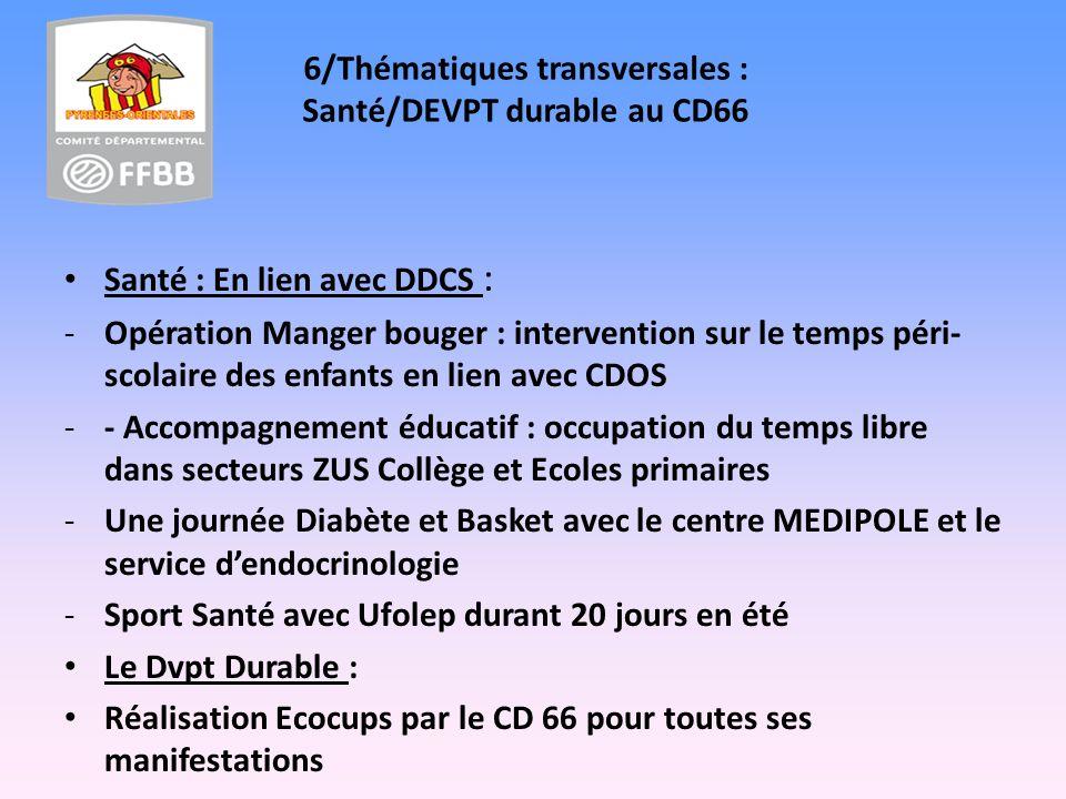6/Thématiques transversales : Santé/DEVPT durable au CD66