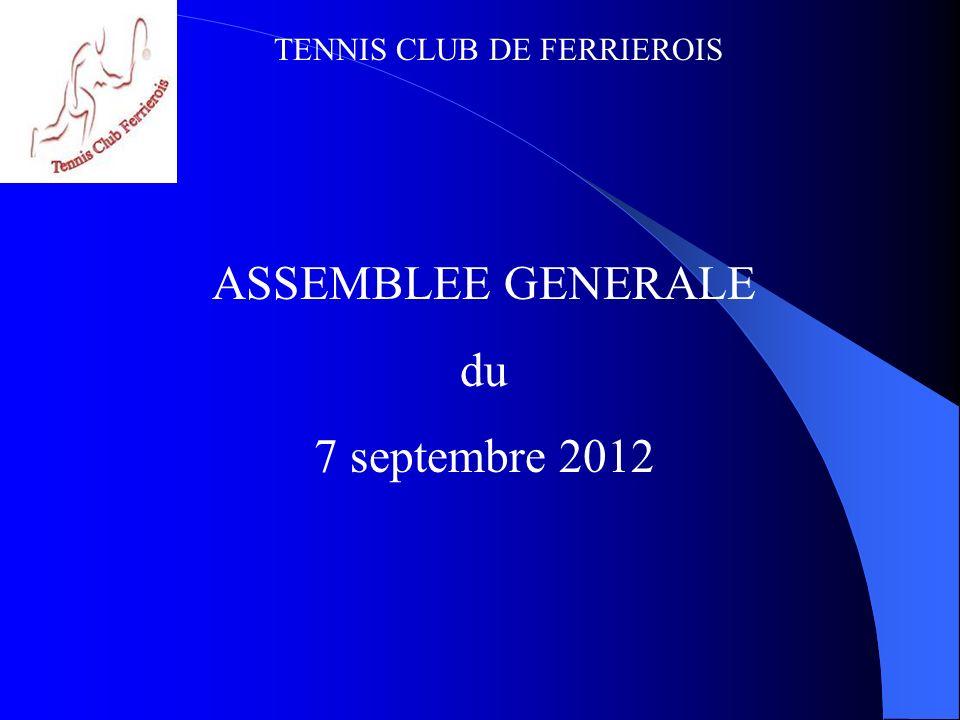 ASSEMBLEE GENERALE du 7 septembre 2012