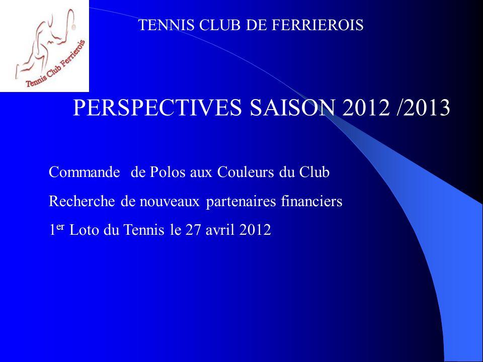 PERSPECTIVES SAISON 2012 /2013 Commande de Polos aux Couleurs du Club