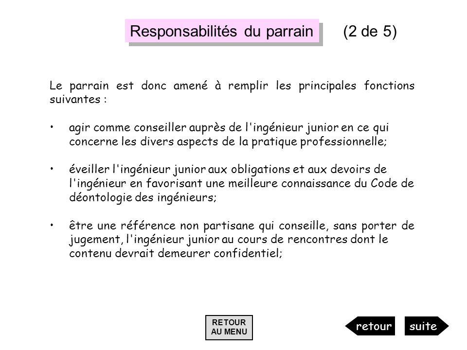 Responsabilités du parrain (2 de 5)
