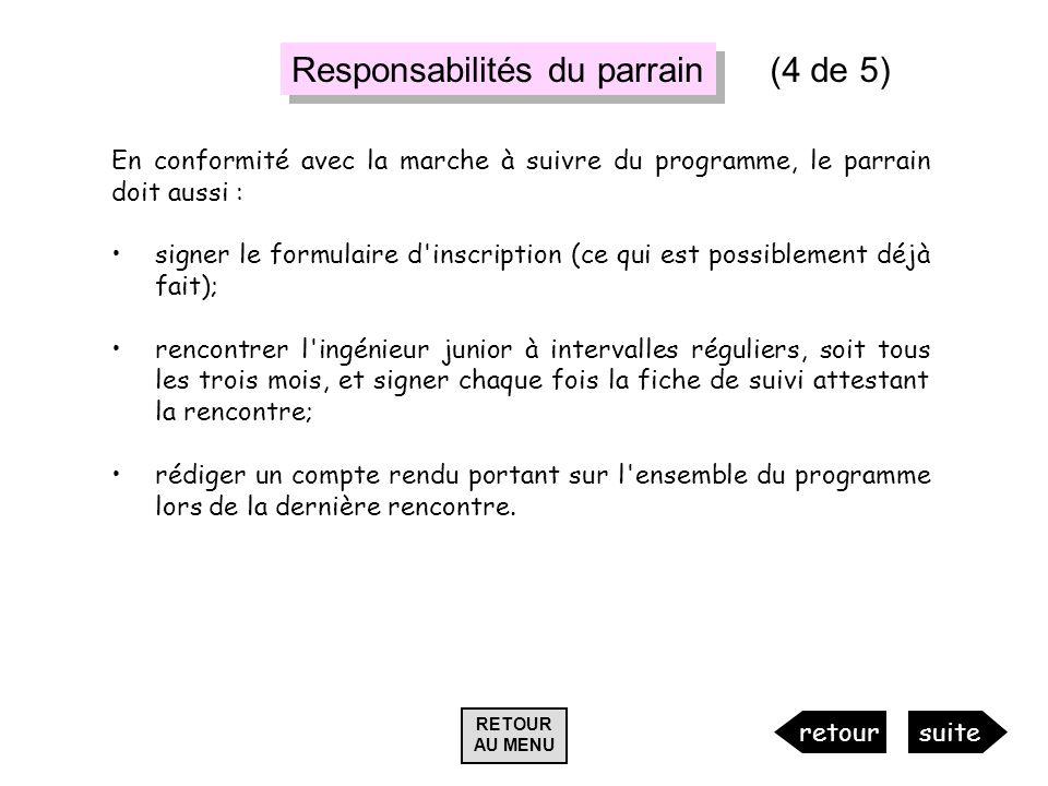 Responsabilités du parrain (4 de 5)