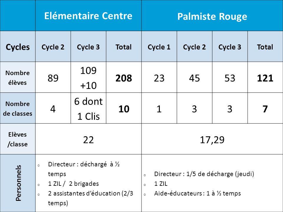 Elémentaire Centre Palmiste Rouge 208 121 10 7