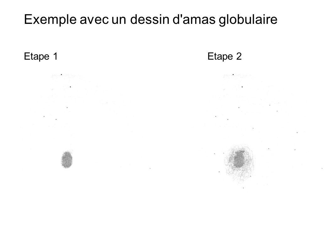 Exemple avec un dessin d amas globulaire