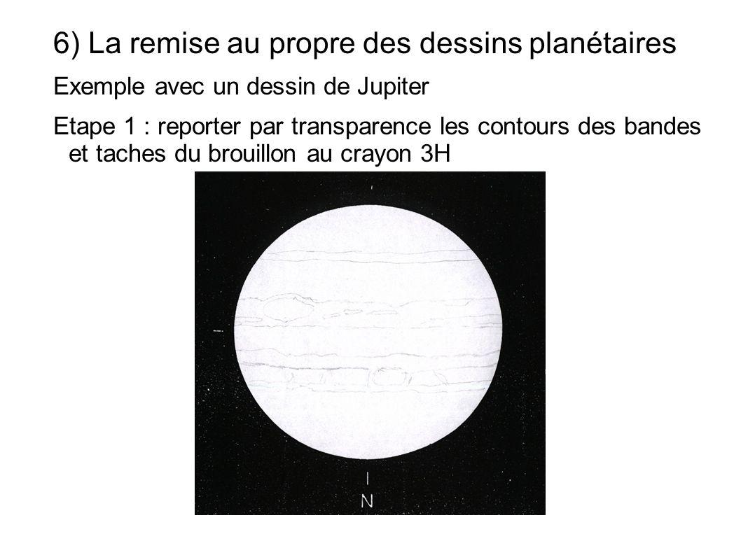 6) La remise au propre des dessins planétaires