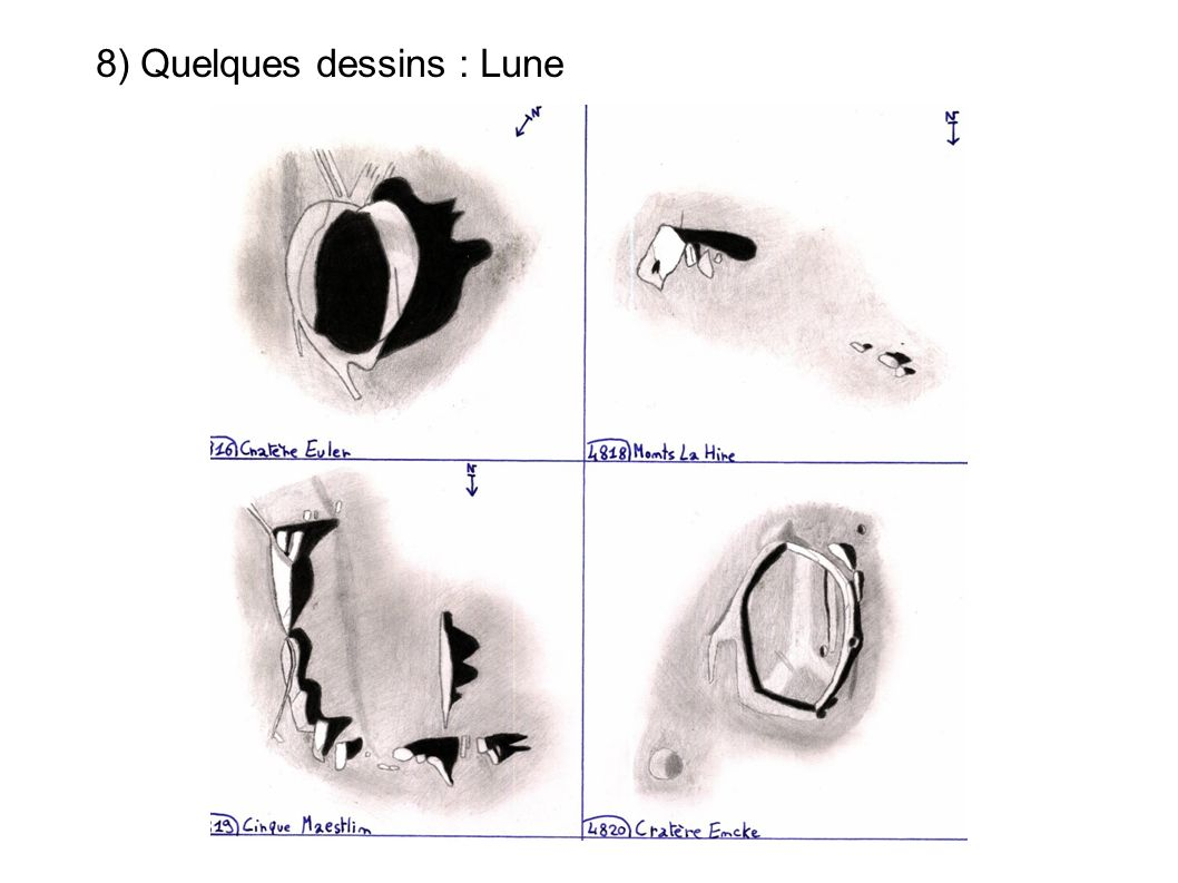8) Quelques dessins : Lune