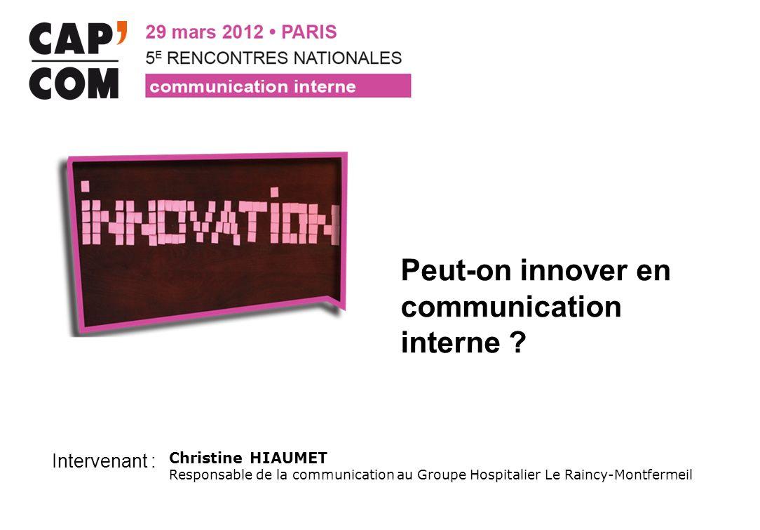 Peut-on innover en communication interne