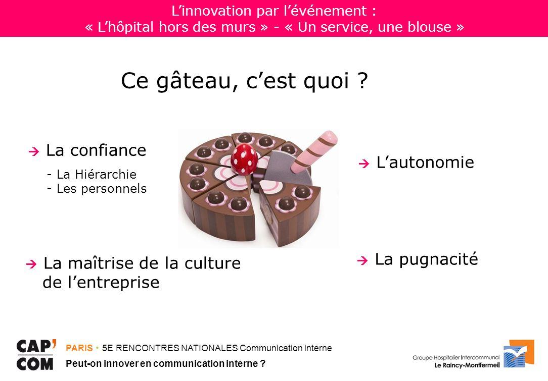 L'innovation par l'événement : « L'hôpital hors des murs » - « Un service, une blouse »