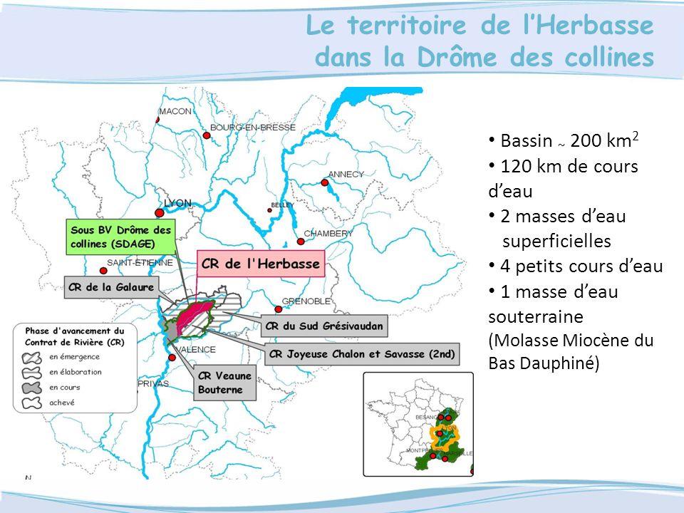 Le territoire de l'Herbasse dans la Drôme des collines