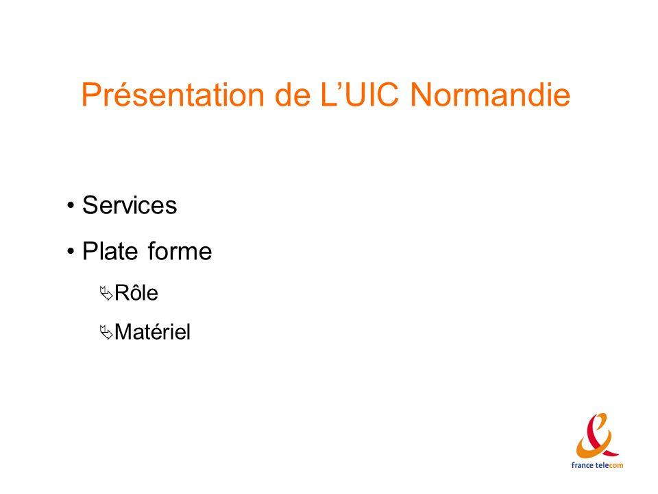 Présentation de L'UIC Normandie