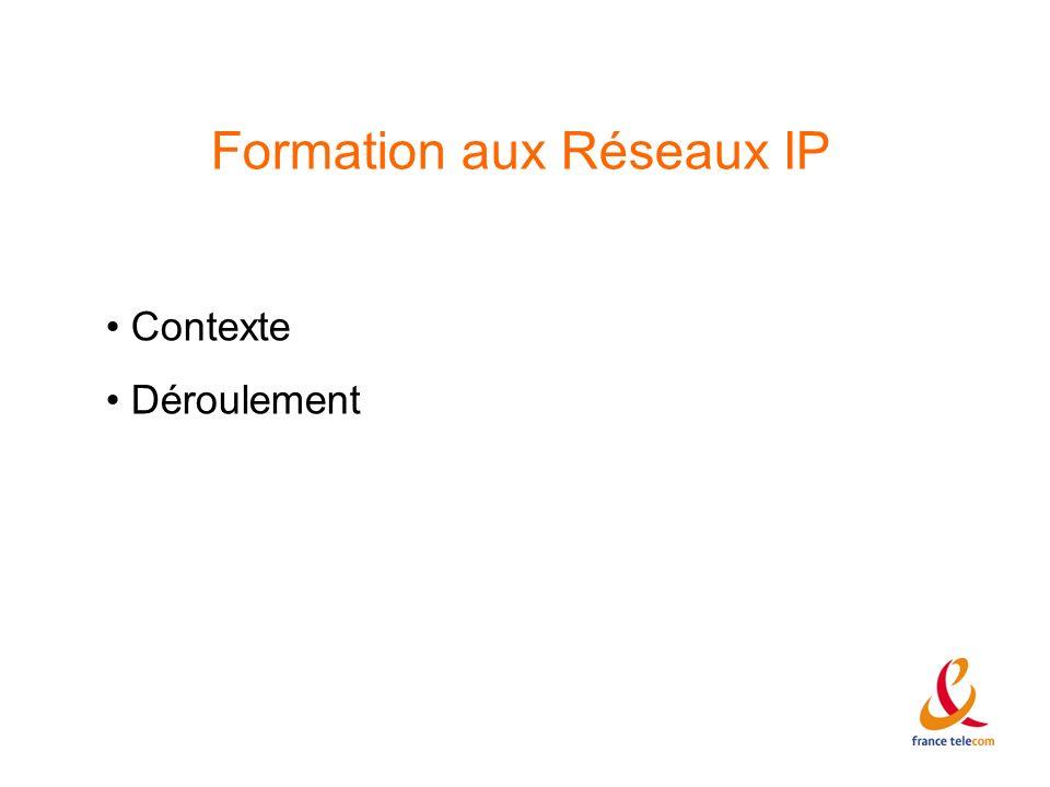 Formation aux Réseaux IP