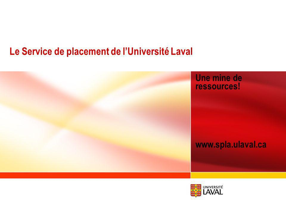 Le Service de placement de l'Université Laval