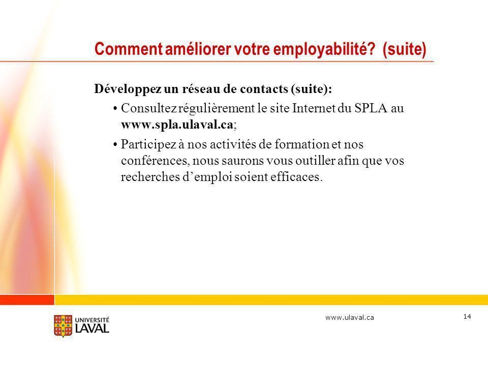 Comment améliorer votre employabilité (suite)