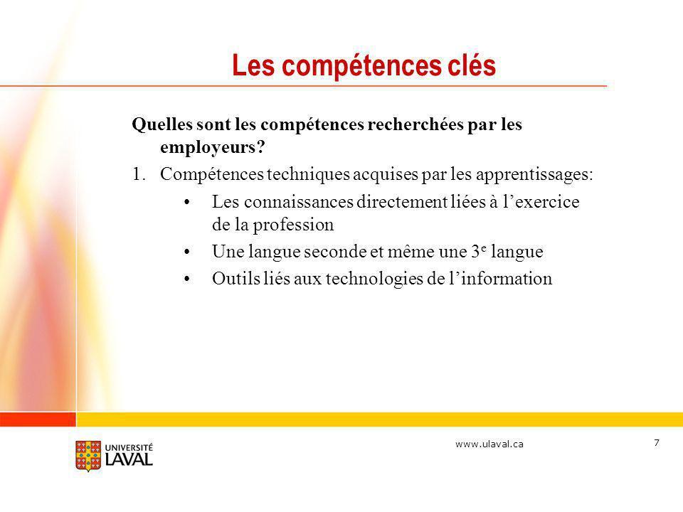 Les compétences clés Quelles sont les compétences recherchées par les employeurs Compétences techniques acquises par les apprentissages: