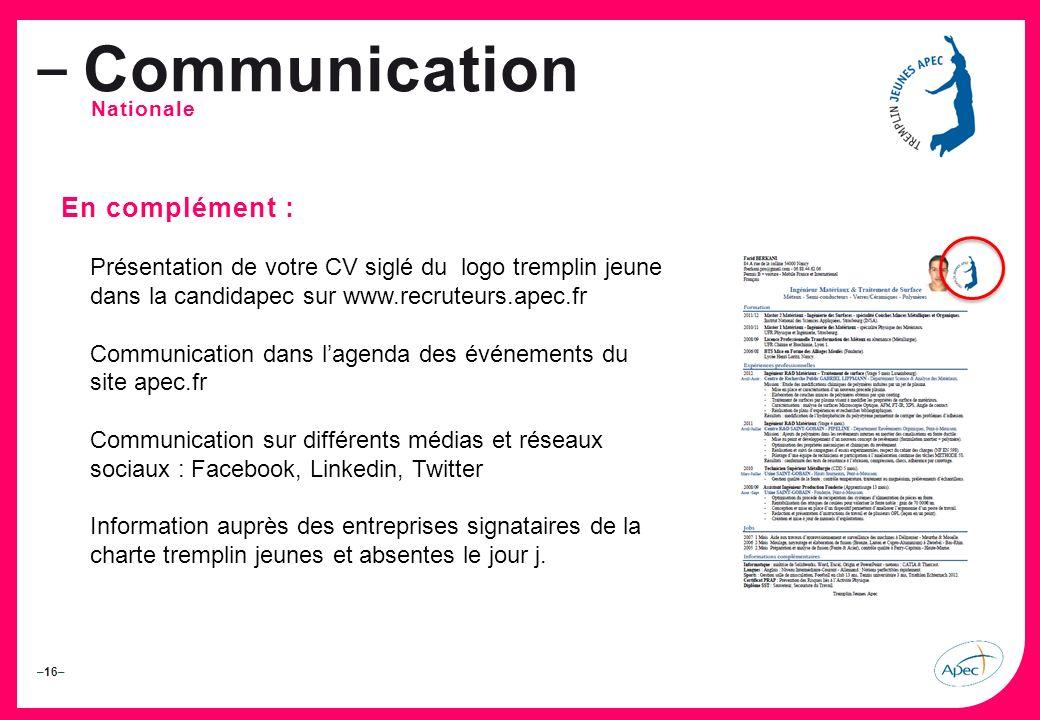 Communication En complément :