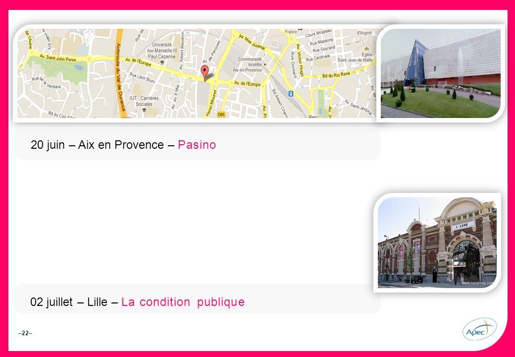 20 juin – Aix en Provence – Pasino