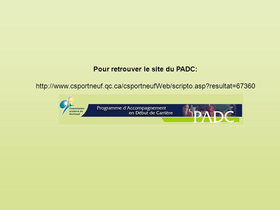 Pour retrouver le site du PADC: