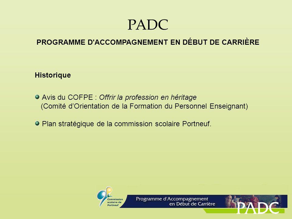 PROGRAMME D ACCOMPAGNEMENT EN DÉBUT DE CARRIÈRE