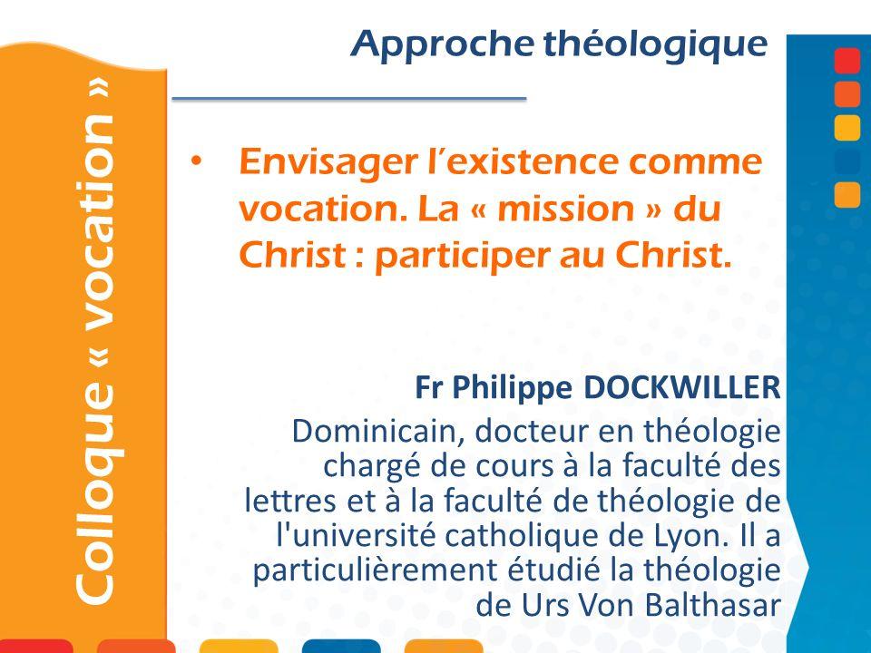 Colloque « vocation » Approche théologique