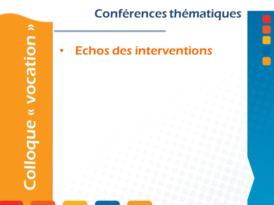 Echos des interventions
