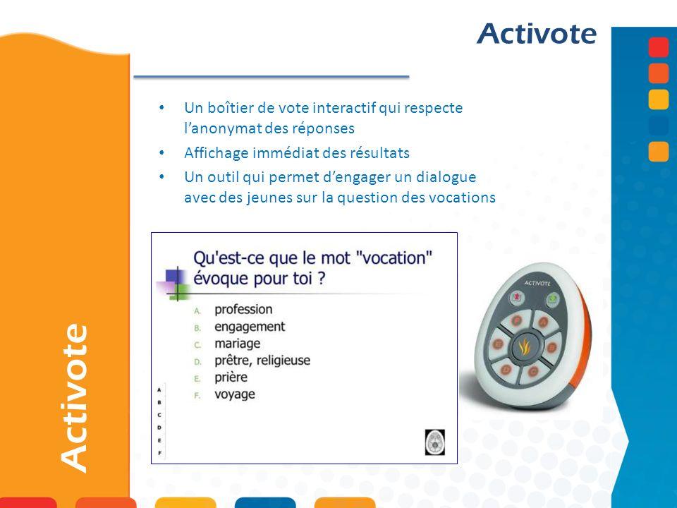 ActivoteUn boîtier de vote interactif qui respecte l'anonymat des réponses. Affichage immédiat des résultats.
