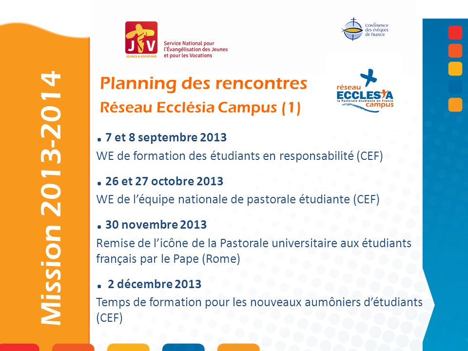 Planning des rencontres Réseau Ecclésia Campus (1)