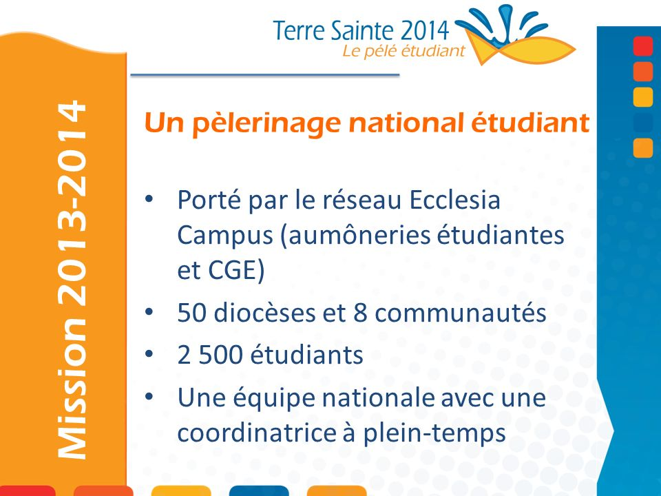 Un pèlerinage national étudiant
