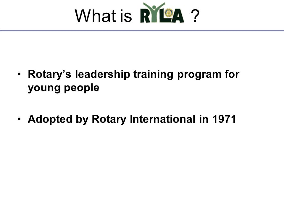 What is Rotary's leadership training program for young people