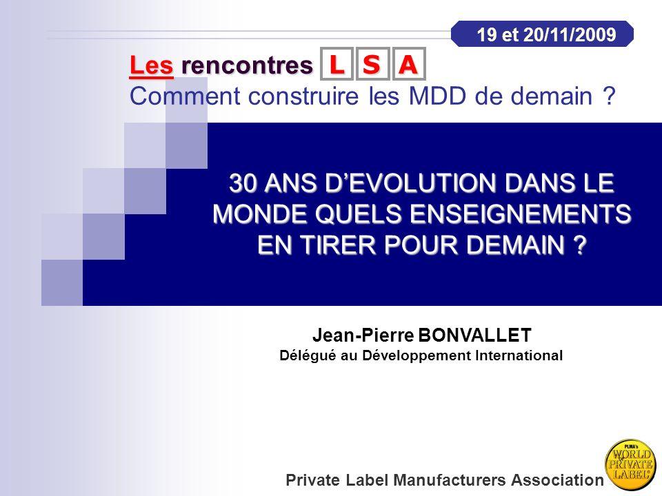 Jean-Pierre BONVALLET Délégué au Développement International
