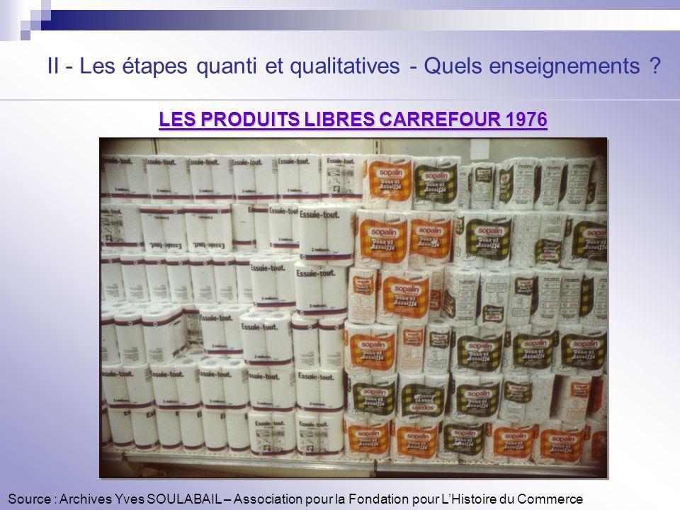 LES PRODUITS LIBRES CARREFOUR 1976