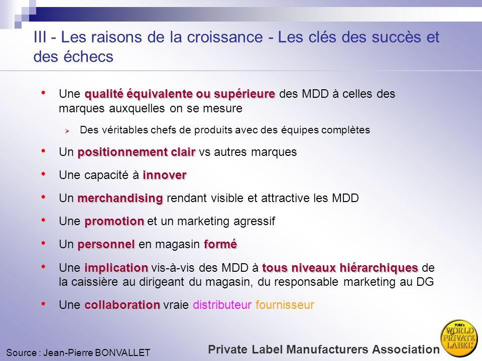 III - Les raisons de la croissance - Les clés des succès et des échecs