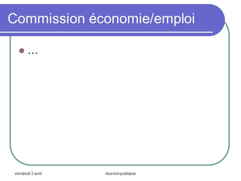 Commission économie/emploi