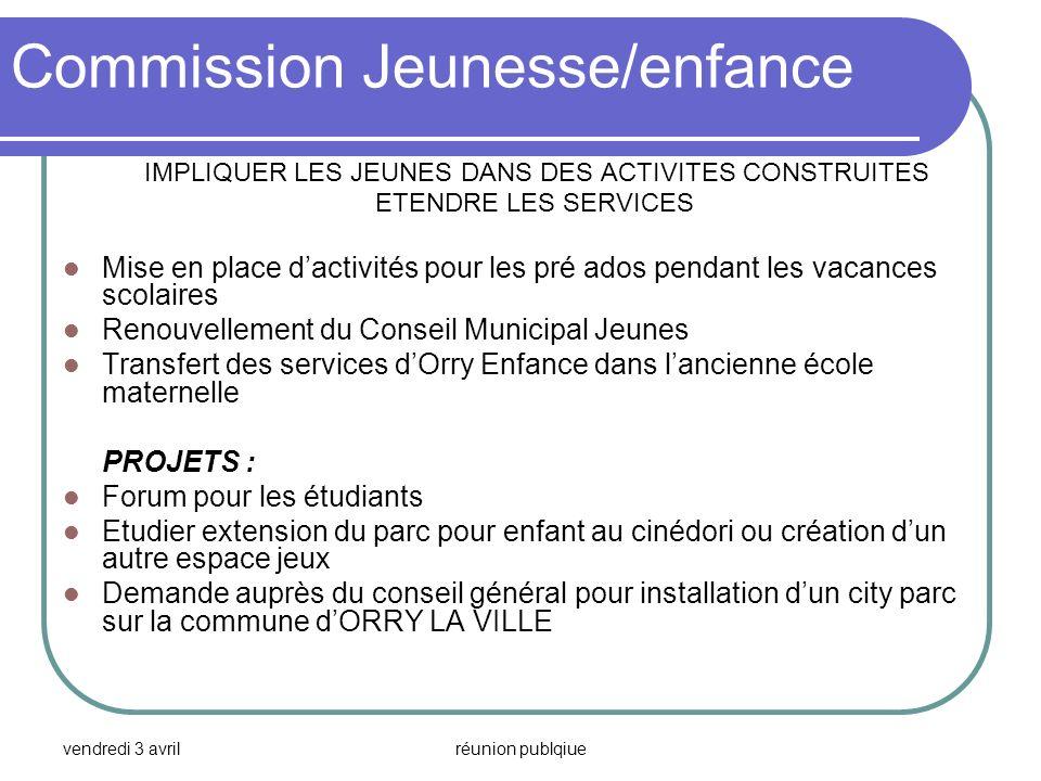 Commission Jeunesse/enfance