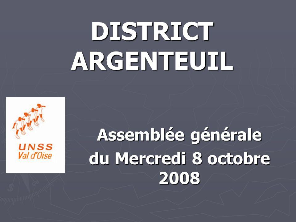 Assemblée générale du Mercredi 8 octobre 2008